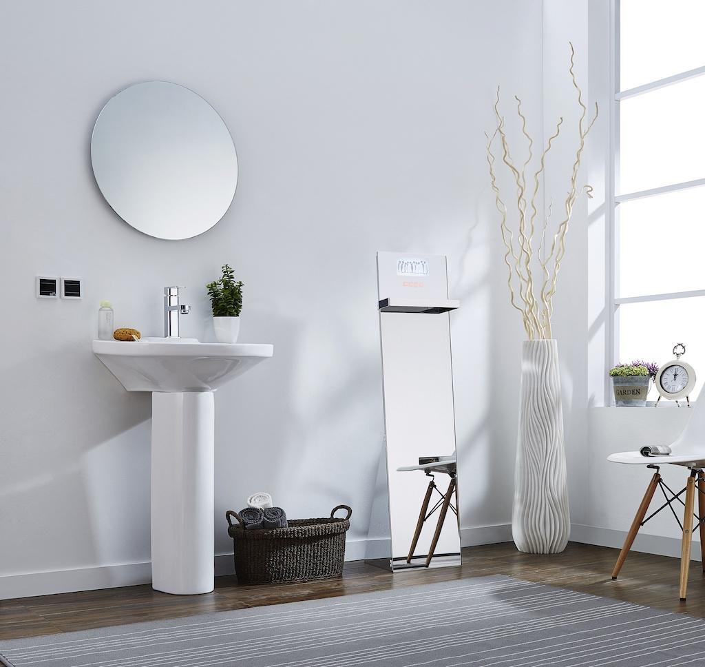 Miroir salle de bain lumiere et prise for Miroir chauffant