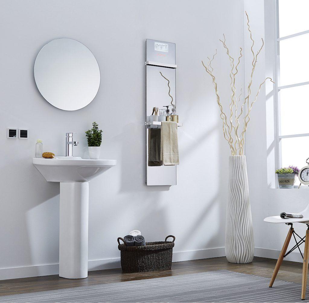 Miroir chauffant avec s che serviette pour salle de bain - Miroir salle de bain chauffant ...