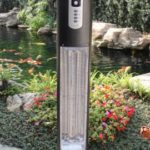 Diana freestanding outdoor infrared heater with 360° dual Led light